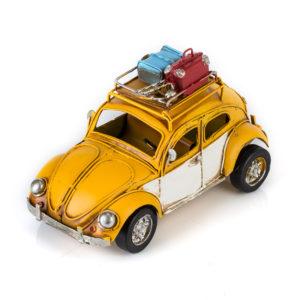 """Фольксваген Жук - Volkswagen Käfer - декоративная винтаж-модель с фоторамкой 1404E-4367 МОДЕЛЬ РЕТРО """"АВТОМОБИЛЬ"""" ЖЁЛТЫЙ"""